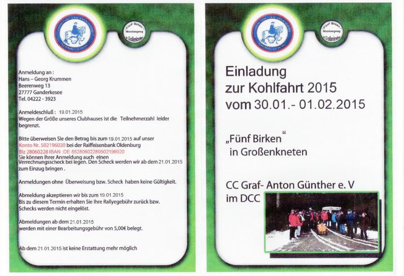 ausschreibung kohlfahrt 2015, Einladung