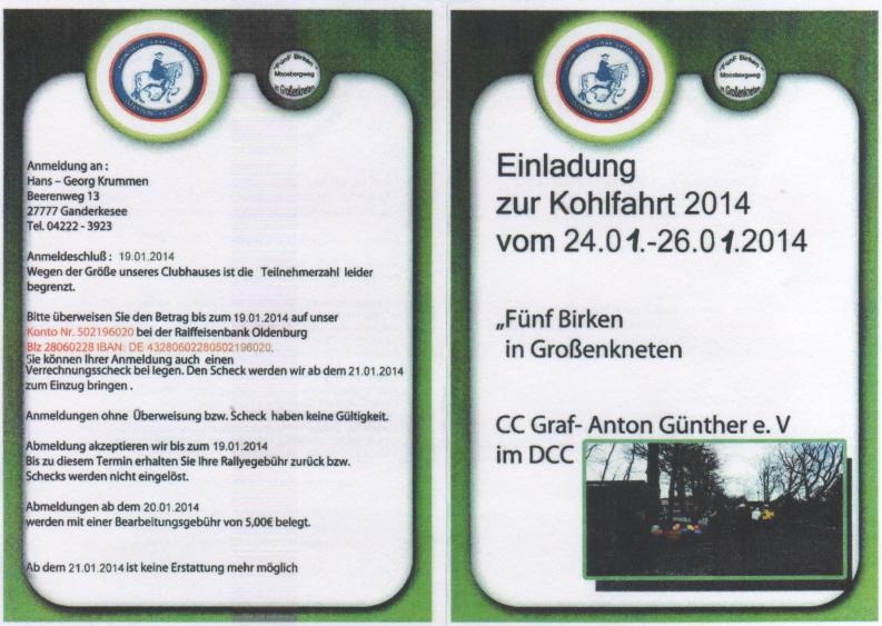 kohlfahrt 2014 g a g - cc-grafantonguenther.de, Einladung